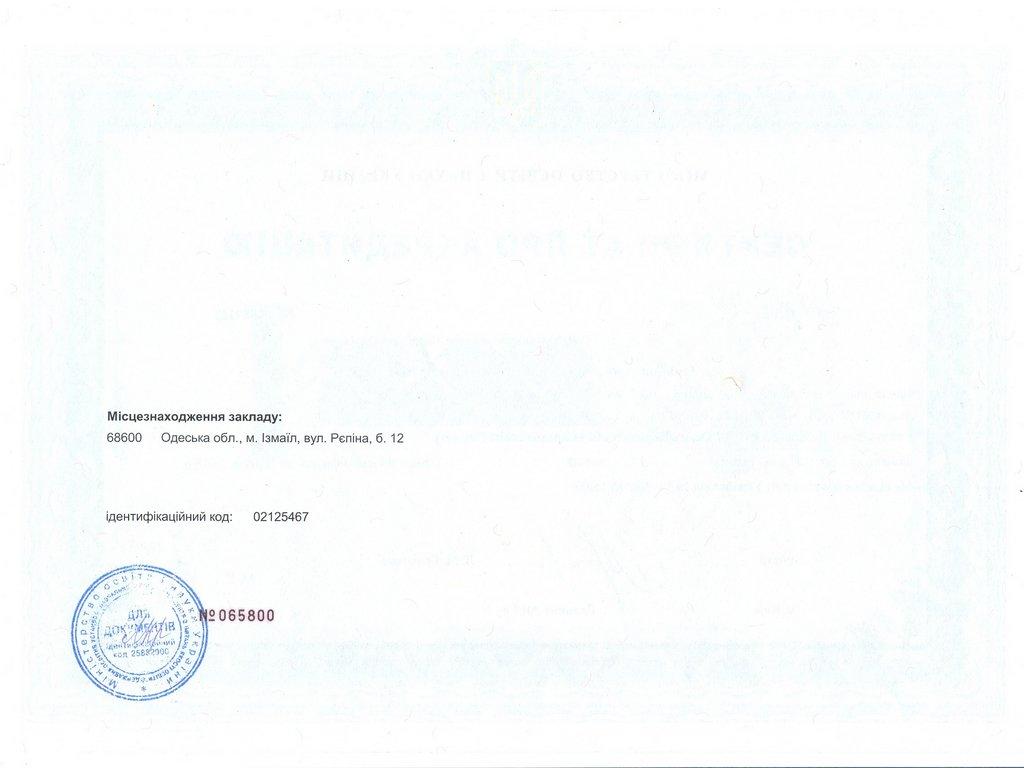 Сертифікат ІДГУ 014 Середня освіта (історія)