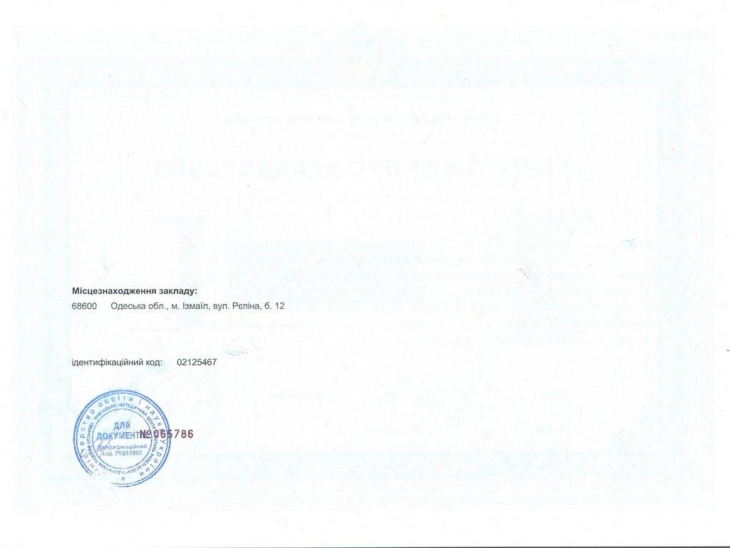 Сертифікат ІДГУ 076 Підприємництво, торгівля та біржова діяльність