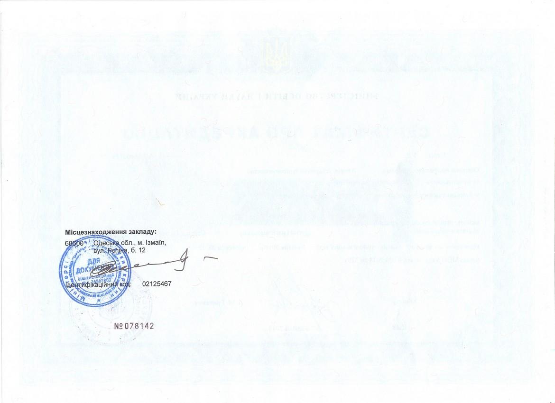 Сертифікат 032 Історія та археологія (2018)
