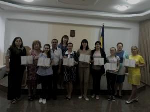 Вручення свідоцтв про успішне закінчення курсів понад обсяги, встановлені навчальними планами, з англійської, німецької, болгарської та румунської мов