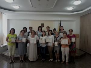 Вітання педагогічних працівників регіону з отриманням свідоцтв