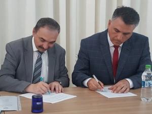 Підписання двосторонньої угоди про співробітництво між університетами Кагулу (Молдова) та Ізмаїлу (Україна)