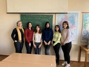 В гостях у студентів факультету іноземних мов побувала випускниця нашого вузу