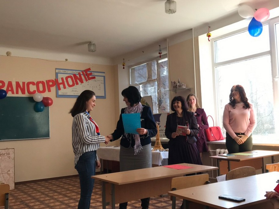 "Перший етап фонетичного конкурсу ""Vive la  Francophonie! Vive la  Francopholie!"""