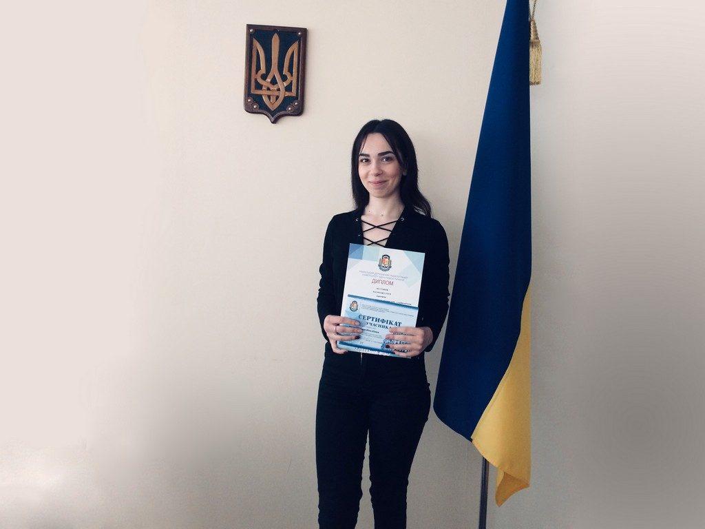 Студентка I курсу магістратури ФУФСН Інна Усатенко здобула диплом переможниці ІІІ ступеня у Всеукраїнському конкурсі студентських наукових робіт