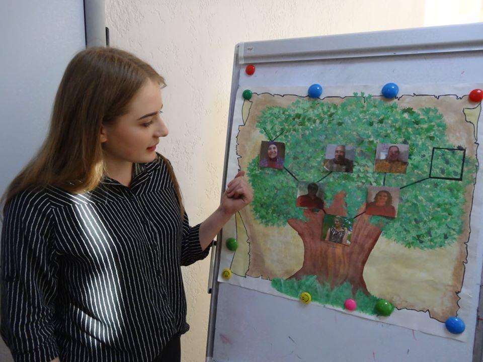 Студенти презентували свої родові дерева, показували відео власних інтерв'ю з найстаршими членами сімей, старі фотографії, документи, які детально демонстрували історію родини