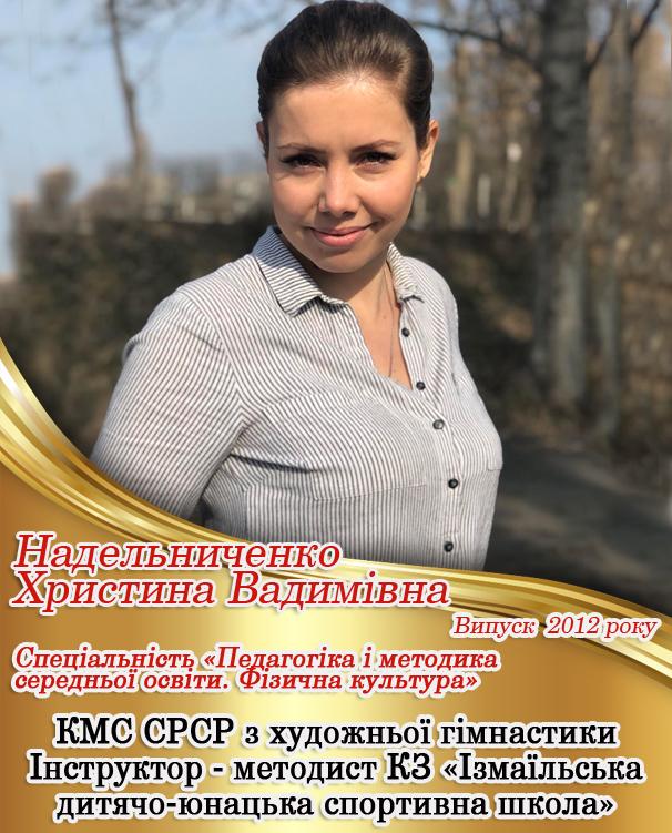 Надельниченко Христина ВадимівнаНадельниченко Христина Вадимівна