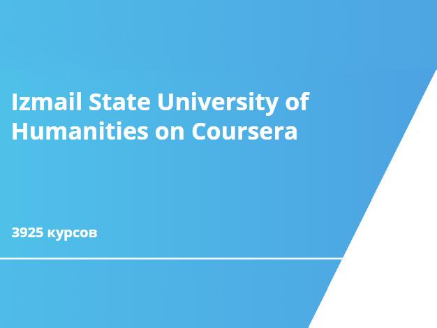 Izmail State University of Humanities on Coursera