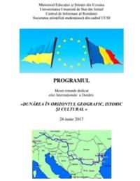 Dunărea în orizontul geografic, istoric și cultural (26.06.2017)