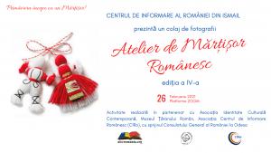 Colaj de fotografii - Atelier de Mărțișor Românesc, ediția a IV-a, Ismail 2021