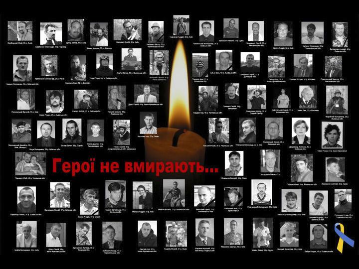 «Герої не вмирають!»: заходи студентів-істориків до Дня пам'яті Героїв Небесної Сотні